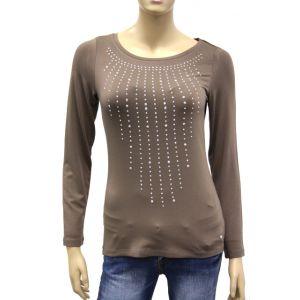 Betty Barclay Damen Langarm-Shirt mit Glitzer 0518/0235