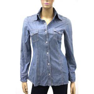 Biscote Damen Jeans Bluse 1/1 Arm