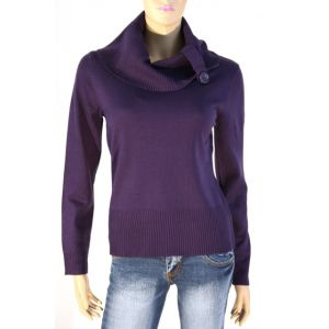 Christa Probst Damen Rollkragen Pullover mit Knopf 1/1 Arm, 500143/0