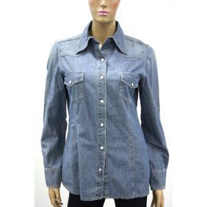 Biscote Damen Jeans Bluse Frosch