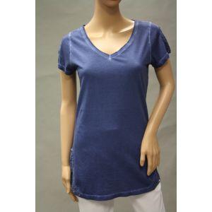 Eight2Nine Damen T-Shirt V-Ausschnitt mit Spitze - D1206G0098AEN-